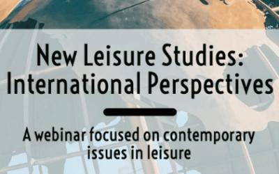 'New Leisure Studies: International Perspectives' webinar series