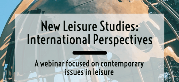 'New Leisure Studies: International Perspectives' webinar series